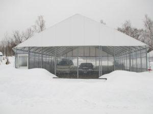 ビニールハウス耐雪型倉庫