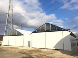 厚真町富里地区 簡易倉庫パイプハウス