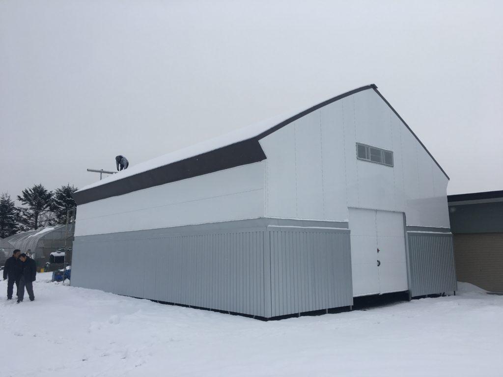 大型パイプ倉庫(北海道鵡川町)