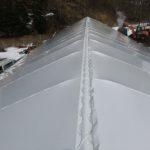 大型パイプ倉庫 屋根ビニール張り完了
