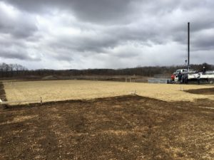 乗馬の練習場 パイプハウス建設現場