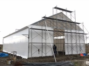 D型ハウスの代用 低コスト倉庫