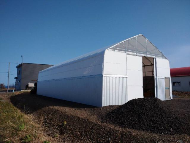 D型ハウスの代わり 漁業用の倉庫
