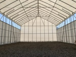 農業用ハウス倉庫 内部